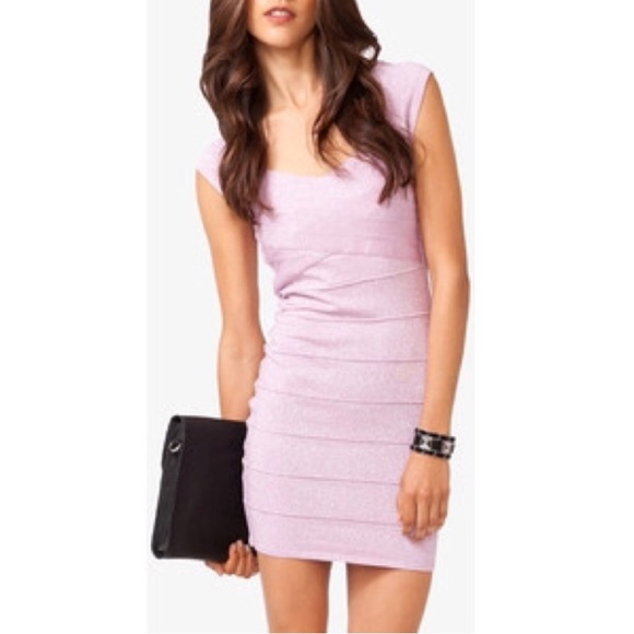 Forever 21 Dresses & Skirts - Forever 21 Sparkly Lilac Bandage Bodycon Dress